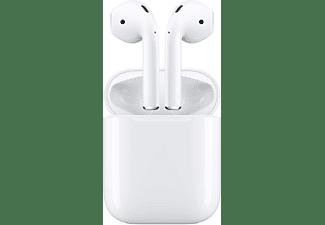 Auriculares inalámbricos - Apple AirPods, Botón, Bluetooth, Lightning, Chip W1, Autonomía 5 horas