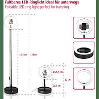 HAMA SpotLight FoldUp 102, LED-Ringleuchte, Schwarz