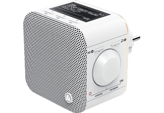HAMA DR40BT-PlugIn Digitalradio, DAB+, DAB, DAB+, FM, Bluetooth, Weiß