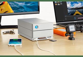 LACIE 2big Dock Thunderbolt 3 Festplatte, 32 TB HDD, extern, Silber