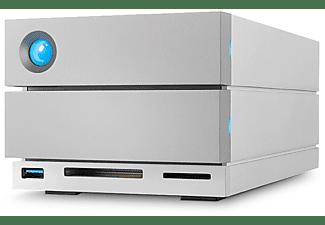 LACIE 2big Dock Thunderbolt 3 Festplatte, 28 TB HDD, extern, Silber