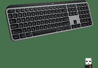 LOGITECH Tastatur MX Keys Advanced für MAC, Grafit, USB/Bluetooth, DE (920-009553)