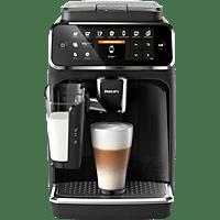 PHILIPS Kaffeevollautomat 4300 Series, mit LatteGo-Milchsystem, EP4341/50, Matt Schwarz