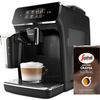 PHILIPS Serie 2200 Kaffeevollautomat EP2231/40 inkl. Bohnenkaffee Selezione Crema (1000g)