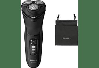 Afeitadora eléctrica - Philips S3233/52, Afeitado apurado y cómodo, Uso en seco y húmedo