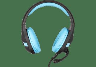 KONIX PS4 Gaming Headset Nemesis, Over-ear Gaming Headset Schwarz/Blau