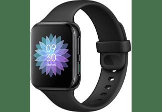 OPPO Watch 41 mm Smartwatch Aluminiumrahmen mit Polycarbonat Rückseite Flourkautschuk, -, Schwarz