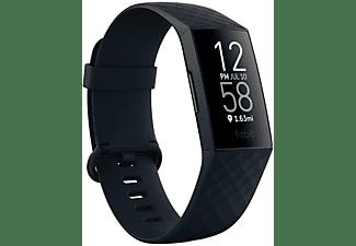 FITBIT Charge 4 NFC, Fitnesstracker, S, L, Storm Blue/Black