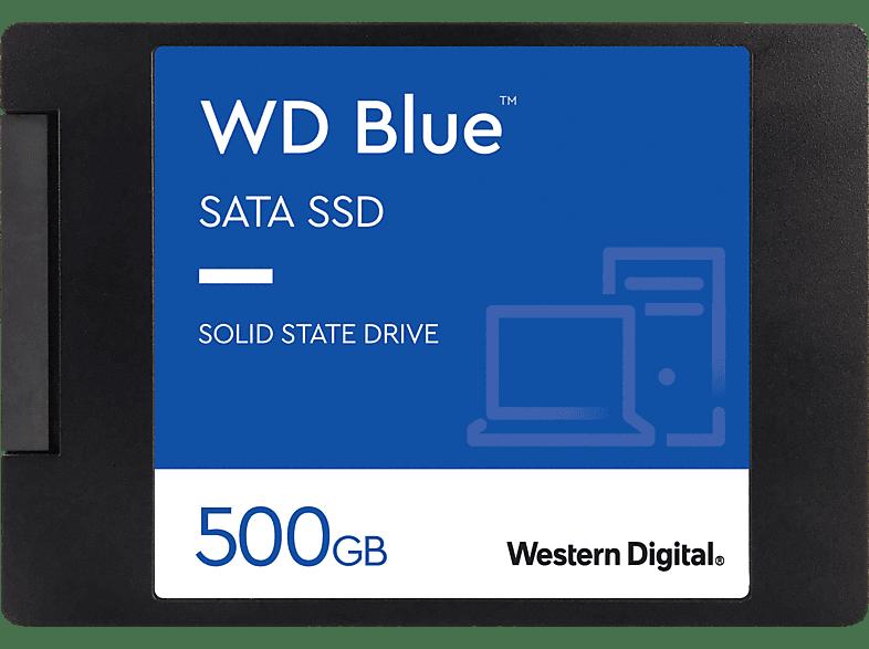 WD Blue 3D Festplatte Bulk, 500 GB SSD SATA 6 Gbps, 2,5 Zoll, intern