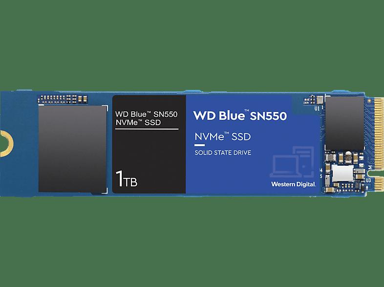 WD Blue SN550 Festplatte, 1 TB SSD M.2 via PCIe, intern