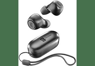 Auriculares inalámbricos - Cellular Line BTPICKTW, True Wireless, Micrófono, Negro + Estuche de carga