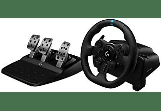 Volante - Logitech G923, Para PS5, PS4, PC, Pedales, Escala 1:1, USB, LED, Trueforce, Negro