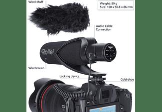 ROLLEI Mikrofon Hear:Me Pro für Smartphone/Kamera, Hypernierencharakteristik, Shotgun (28701)