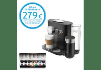Cafetera de cápsulas Nespresso® Krups XN 6018 EXPERT + Aeroccino, 19 bares, Bluetooth, 1260W, Negro