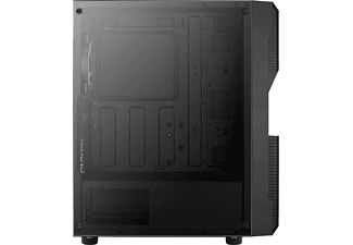 AEROCOOL ACCM-PV20023.11 Menace Saturn RGB PC Gehäuse, Schwarz