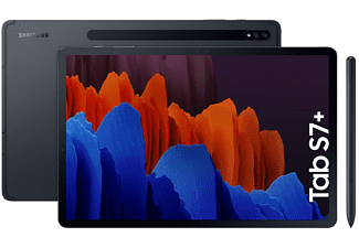 "Tablet - Samsung Galaxy Tab S7+, 5G, 128 GB, Negro, WiFi, 12.4"", 6 GB RAM, Snapdragon 865 Plus, Android 10"
