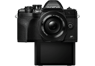 OLYMPUS OM-D E-M10 Mark IV Pancake Kit, 14-42mm F3.5-5.6, kompakte Selfie Systemkamera 20.1 Megapixel, 7,6 cm Display Touchscreen, WLAN