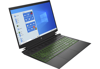 HP Pavilion Gaming 16-a0353ng, Gaming Notebook mit 16,1 Zoll Display, Intel® Core™ i5 Prozessor, 8 GB RAM, 512 GB SSD, GeForce® GTX 1650, Schwarz
