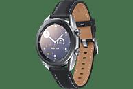 SAMSUNG Galaxy Watch 3 41 mm Bluetooth Smartwatch Edelstahl Echtleder, Größe S/M (130 - 190 mm), Mystic Silver/Black