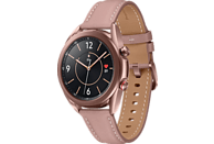 SAMSUNG Galaxy Watch 3 41 mm LTE & Bluetooth Smartwatch Edelstahl Echtleder, Größe S/M (130 - 190 mm), Mystic Bronze/Pink