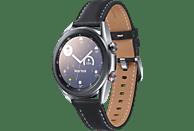 SAMSUNG Galaxy Watch 3 41 mm LTE & Bluetooth Smartwatch Edelstahl Echtleder, Größe S/M (130 - 190 mm), Mystic Silver/Black