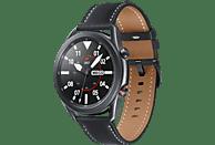 SAMSUNG Galaxy Watch 3 45 mm LTE & Bluetooth Smartwatch Edelstahl Echtleder, Größe M/L (145 - 205 mm), Mystic Black/Black