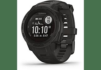 GARMIN Instinct Solar Smartwatch Faserverstärktes Polymer Silikon, 132 - 224 mm (45 x 45 x 15.3 mm), Schiefergrau