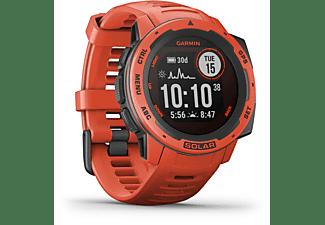 GARMIN Instinct Solar Smartwatch Faserverstärktes Polymer Silikon, 132 - 224 mm (45 x 45 x 15.3 mm), Rot
