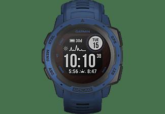GARMIN Instinct Solar Smartwatch Faserverstärktes Polymer Silikon, 132 - 224 mm (45 x 45 x 15.3 mm), Dunkelblau