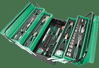 MANNESMANN 21188 Werkzeugkasten 88-teilig Handwerkzeug, Grün/Schwarz