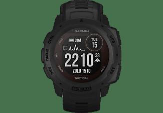 GARMIN Instinct Solar Smartwatch Faserverstärktes Polymer Silikon, 132 - 224 mm (45 x 45 x 15.3 mm), Schwarz
