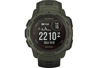 GARMIN Instinct Solar Smartwatch Faserverstärktes Polymer Silikon, 132 - 224 mm (45 x 45 x 15.3 mm), Grün