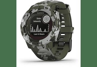 GARMIN Instinct Solar Smartwatch Faserverstärktes Polymer Silikon, 132 - 224 mm (45 x 45 x 15.3 mm), Grün Camo