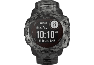 GARMIN Instinct Solar Smartwatch Faserverstärktes Polymer Silikon, 132 - 224 mm (45 x 45 x 15.3 mm), Schiefergrau Camo