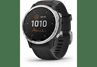 GARMIN Fenix 6s Solar Smartwatch Silikon, 125-208 mm, Schwarz