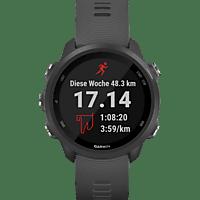 GARMIN Forerunner 245, Smartwatch, 127-204 mm Handgelenkumfang, Schwarz/Schiefergrau
