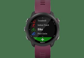GARMIN Forerunner 245, Smartwatch, 127-204mm Handegelenkumfang, Schwarz/Dunkelrot