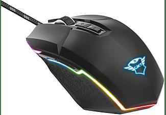 Ratón gaming - Trust GXT 950 Idon RGB, Por cable, 6000 ppp, Botones programables, Negro