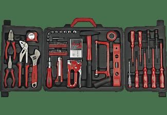 MANNESMANN 29065 Werkzeugkoffer 60-teilig Handwerkzeug, Rot/Schwarz