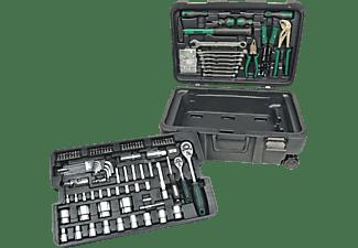 MANNESMANN 29070 Werkzeugtrolley 122-teilig Handwerkzeug, Grün/Schwarz