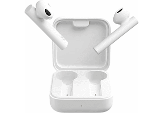 Auriculares inalámbricos - Xiaomi Mi True Wireless 2 Basic, Bluetooth True Wireless, 5 horas, Blanco