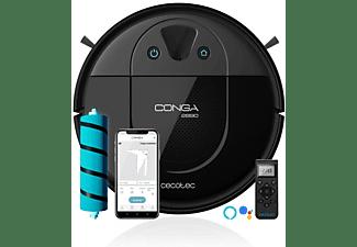 Robot aspirador - Cecotec Conga 2690, iTech Camera 360, Friega aspira y barre, App mapa, 160 min, 64 db, Negro
