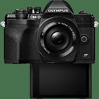 OLYMPUS Systemkamera OM-D E-M10 Mark IV Schwarz mit M.Zuiko Digital ED 14-42mm f3.5-5.6 EZ Pancake