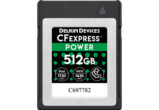 DELKIN Power 1730MB/S Typ B - CFexpress-Scheda di memoria  (512 GB, 1730 MB/s, Nero)