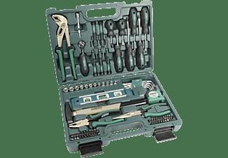 MANNESMANN 29084 Werkzeugkoffer 87-teilig Handwerkzeug, Grün/Schwarz