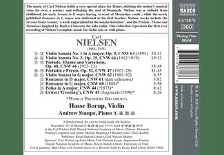 Borup,Hasse/Staupe,Andrew - Sonaten für Violine And Klavier op.9 And 35  - (CD)