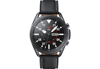 SAMSUNG Galaxy Watch3 (45 mm) - BT-Version, Smartwatch (Breite: 22 mm, Leder, Schwarz)