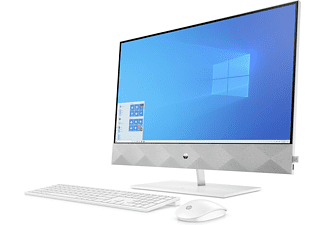 "All in one - HP Pavilion 27-d0024ns, 27"" FHD, Intel® Core™ i3-10300T, 8 GB, 512 GB SSD, W10, Blanco"