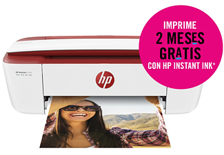 Impresora multifunción - HP Deskjet 3764, Color, 19 ppm, WiFi, USB, 64MB, Rojo