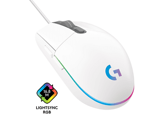 LOGITECH G203 LIGHTSYNC Gaming Maus, Weiß